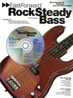 Fast Forward: Rock Steady Bass Books and CDs | Bass Guitar Tab, with chord symbols