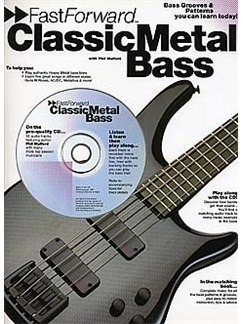 Fast Forward: Classic Metal Bass Books and CDs | Bass Guitar Tab, with chord symbols