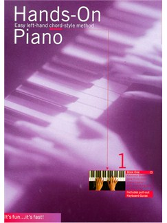 Hands-On Piano Book 1 Books | Piano and Voice, with Guitar chord symbols