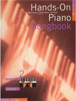 Hands-On Piano Songbook 2 Books | Piano and Voice, with Guitar chord symbols