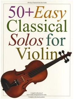 50+ Easy Classical Solos For Violin Books | Violin, with chord symbols