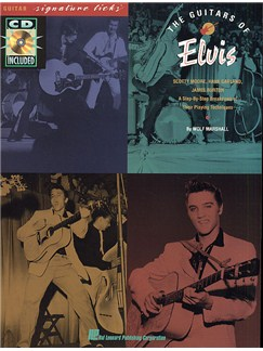 The Guitars of Elvis: Signature Licks Books and CDs | Guitar Tab, with chord symbols