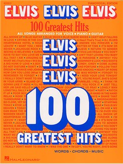 Elvis Elvis Elvis: 100 Greatest Hits Livre | Piano, Chant et Guitare (Boîtes d'Accord)