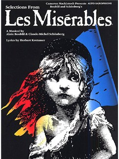 Selections From Les Miserables For Alto Saxophone Books | Alto Saxophone