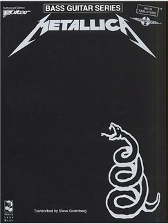Play It Like It Is Bass: Metallica - The Black Album Books | Bass Guitar Tab, with chord symbols