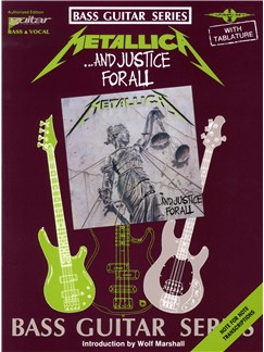 Play It Like It Is Bass: Metallica - And Justice For All Books | Bass Guitar Tab, with chord symbols