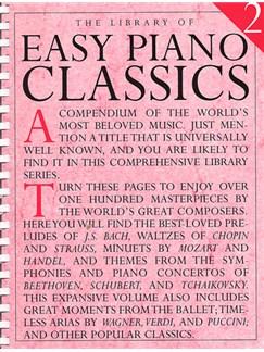 Library Of Easy Piano Classics 2 Books | Piano, Easy Piano