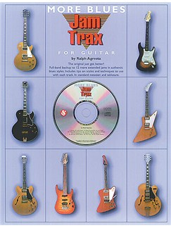 Jam Trax More Blues For Guitar Books and CDs | Guitar Tab, with chord symbols