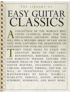 The Library Of Easy Guitar Classics Books | Guitar, Easy Guitar, Classical Guitar