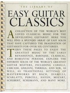 The Library Of Easy Guitar Classics Livre | Guitare, Guitare Classique