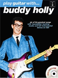 Play Guitar With... Buddy Holly CD et Livre | Tablature Guitare (Symboles d'Accords)