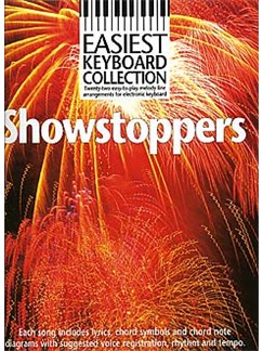 Easiest Keyboard Collection: Showstoppers Bog | Melodilinie, tekst og becifring(med becifring)