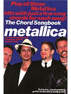 Metallica Chord Songbook Books | Lyrics & Chords