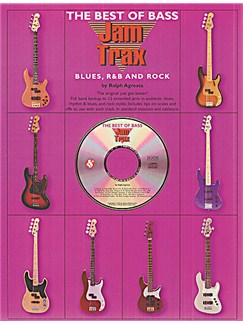 Jam Trax: The Best Of Bass Blues, R And B And Rock Books and CDs | Bass Guitar Tab, with chord symbols