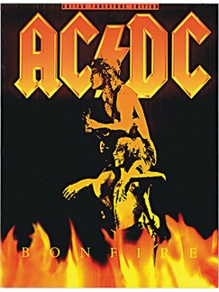 AC/DC: Bonfire Books | Guitar Tab, with chord symbols