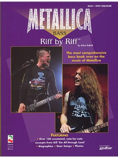 Metallica Bass: Riff By Riff Books | Bass Guitar Tab, with chord symbols