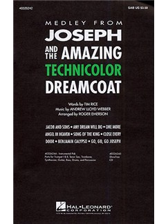 Andrew Lloyd Webber: Joseph And The Amazing Technicolor Dreamcoat Medley (SAB) Books | SAB, Piano Accompaniment
