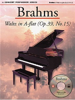 Brahms: Waltz In A Flat (Op.39, No.15) CD-Roms / DVD-Roms et Livre | Piano