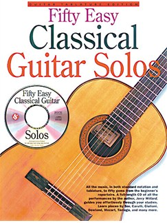 Fifty Easy Classical Guitar Solos Books and CDs | Guitar Tab (with Chord Symbols), Classical Guitar