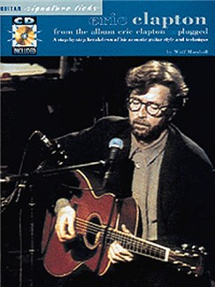 Eric Clapton: Unplugged Guitar Signature Licks Books and CDs | Guitar Tab, with chord symbols