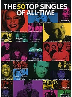 The Top 50 Singles Of All-Time Livre | Piano, Chant et Guitare (Boîtes d'Accord)