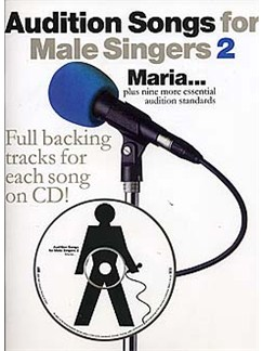 Audition Songs For Male Singers 2 Books and CDs | Piano and Voice, with Guitar chord symbols