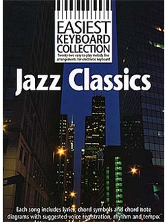Easiest Keyboard Collection: Jazz Classics Books | Melody line & lyrics, with chord symbols