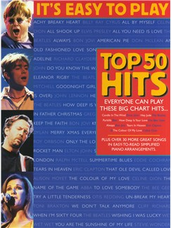 It's Easy To Play Top 50 Hits - Volume 1 Livre | Piano, Chant et Guitare (Symboles d'Accords)