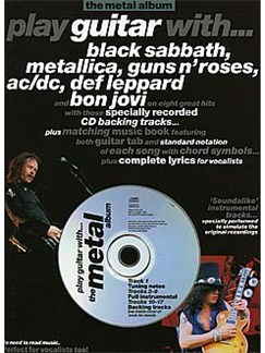 Play Guitar With... The Metal Album Books and CDs | Guitar Tab, with chord symbols