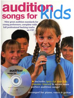 Audition Songs For Kids Books and CDs | Piano, Vocal & Guitar