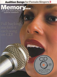 Audition Songs For Female Singers 3 Books and CDs | Piano and Voice, with Guitar chord symbols