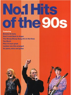 No.1 Hits of the 90s Books | Piano and Voice, with Guitar chord boxes