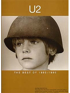 U2: The Best Of 1980-1990 Books | Guitar Tab, with chord symbols