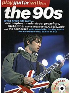 Play Guitar With... The 90s Books and CDs | Guitar Tab, with chord symbols