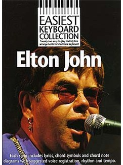 Easiest Keyboard Collection: Elton John Books | Melody Line with Lyrics and Chord Symbols