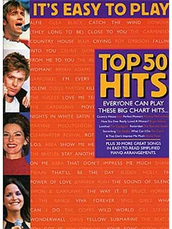 It's Easy To Play Top 50 Hits 4 Books | Piano and Voice, with Guitar chord symbols