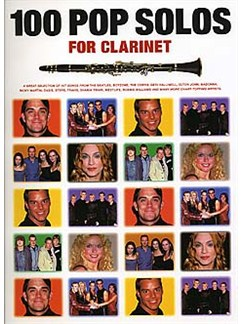 100 Pop Solos For Clarinet Books | Clarinet, with chord symbols