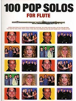 100 Pop Solos For Flute Books | Flute, with chord symbols