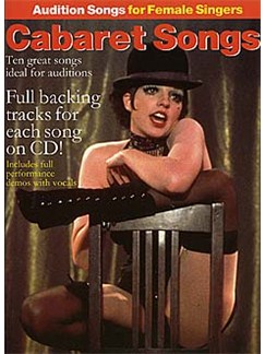 Audition Songs For Female Singers: Cabaret Songs CD et Livre | Piano, Chant et Guitare (Boîtes d'Accord)