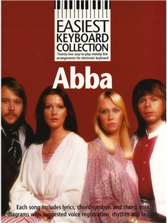 Easiest Keyboard Collection: Abba Books | Melody line and lyrics with chord symbols