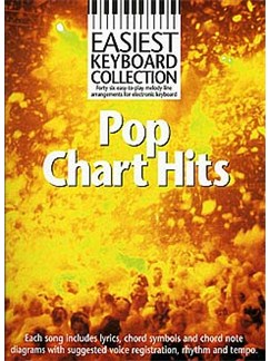Easiest Keyboard Collection: Pop Chart Hits Books | Melody Line, Lyrics and Chord Symbols