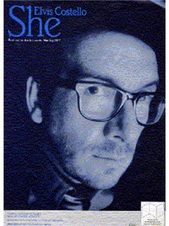 Elvis Costello: She Books | Piano and Voice, with Guitar chord boxes