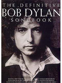 The Definitive Dylan Songbook (Large Format) Books | Melody line, Lyrics & Chord, with guitar chord boxes