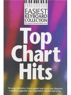 Easiest Keyboard Collection: Top Chart Hits Livre | Clavier (Symboles d'Accords)