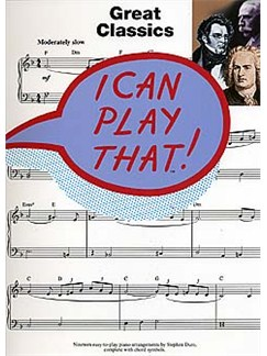 I Can Play That! Great Classics Livre | Piano (Symboles d'Accords)