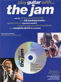 Play Guitar With... The Jam Books and CDs | Guitar Tab, with chord symbols
