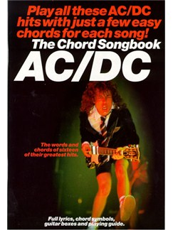 The Chord Songbook: AC/DC Books | Lyrics & Chords, with chord symbols