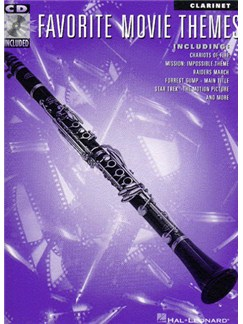 Favorite Movie Themes for Clarinet Audio Digitale et Livre | Clarinette