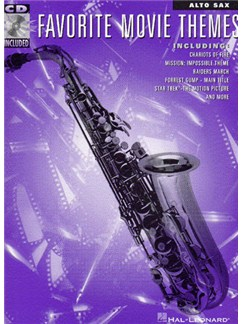 Favorite Movie Themes For Alto Sax (Book/Online Audio) Books and Digital Audio | Alto Saxophone