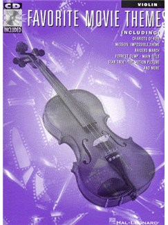 Favorite Movie Themes for Violin CD et Livre | Violon